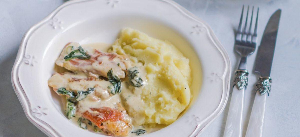 Kurczak w sosie z gorgonzoli