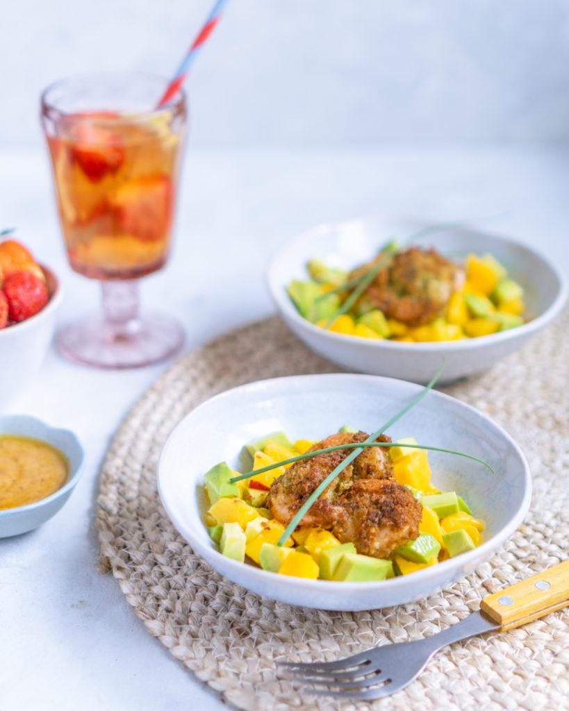 Salsa z mango i krewetkami