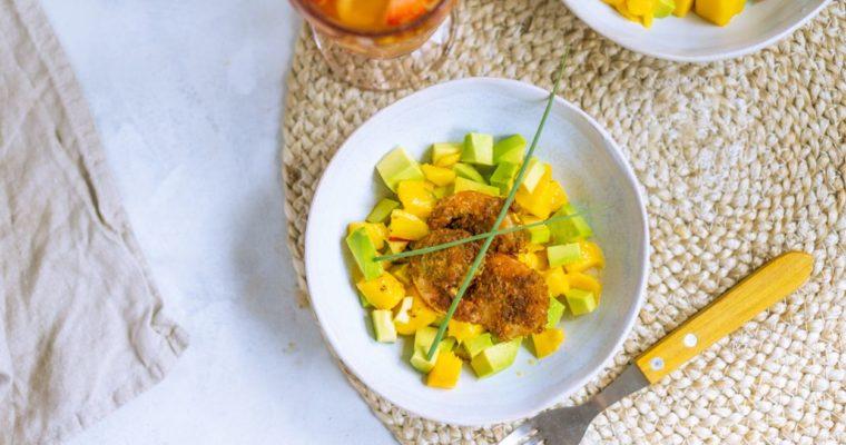 Salsa z mango z krewetkami