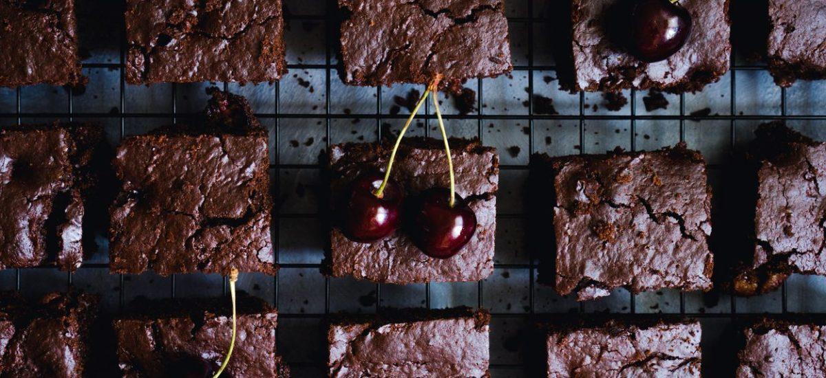 Brownie z czereśniami