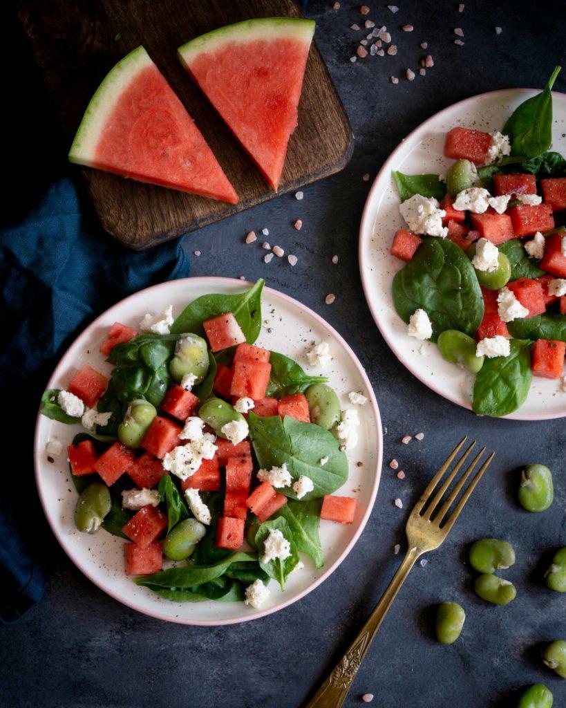 Sałatka z bobem i arbuzem