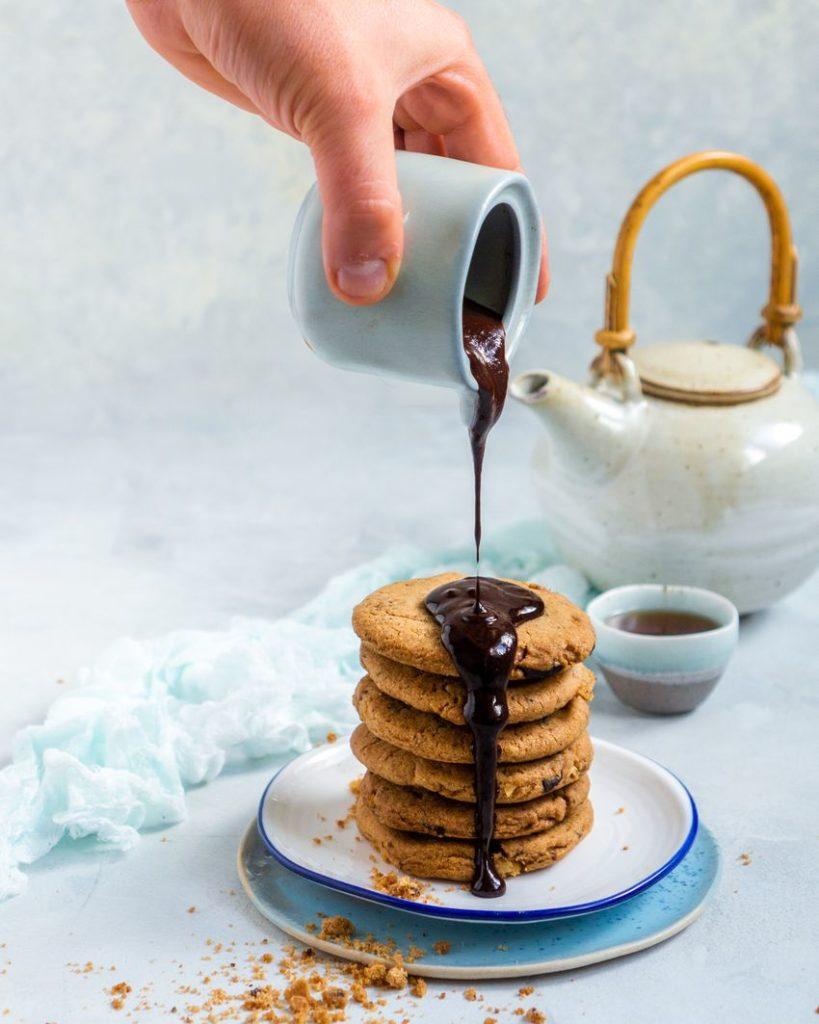 Ciasteczka z orzechami i czekoladą